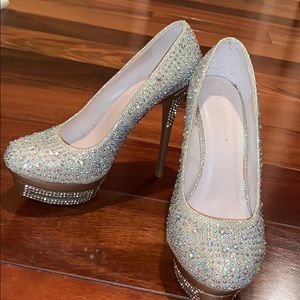 Night Moves by Allure Gold Rhinestone Pumps